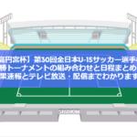 【JFA高円宮杯】第30回全日本U-15サッカー選手権大会・決勝トーナメントの組み合わせと日程まとめ!結果速報とテレビ放送・配信までわかります!
