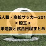 【新人戦・高校サッカー2019】埼玉の結果速報と試合日程まとめ!