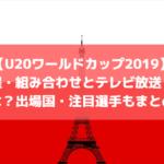 【U20ワールドカップ2019】日程・組み合わせとテレビ放送・配信は?出場国・注目選手もまとめ!