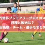 【高校サッカープレミアリーグ2019EASTイースト】日程と放送は?注目高校・チーム・選手もまとめ!