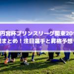 【高円宮杯プリンスリーグ関東2019】日程まとめ!注目選手と昇格予想も!