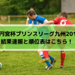 【高円宮杯プリンスリーグ九州2019】結果速報と順位表はこちら!