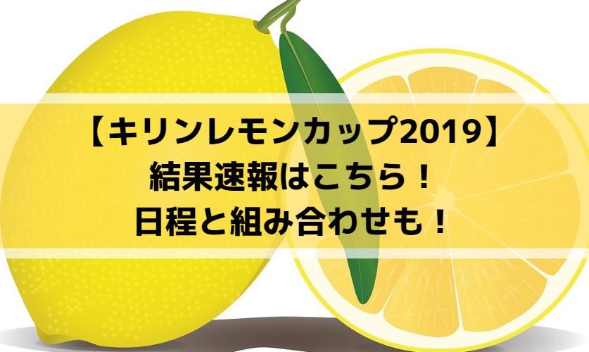【キリンレモンカップ2019】結果速報はこちら!日程と組み合わせも!