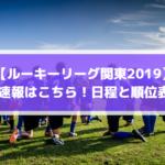 【ルーキーリーグ関東2019】結果速報はこちら!日程と順位表も!