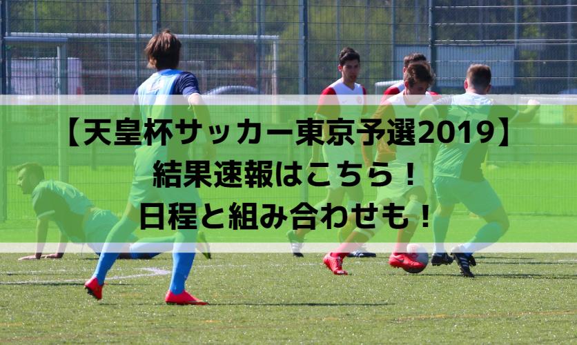 【天皇杯サッカー東京予選2019】結果速報はこちら!日程と組み合わせも!