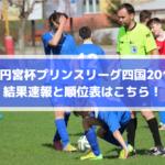【高円宮杯プリンスリーグ四国2019】結果速報と順位表はこちら!