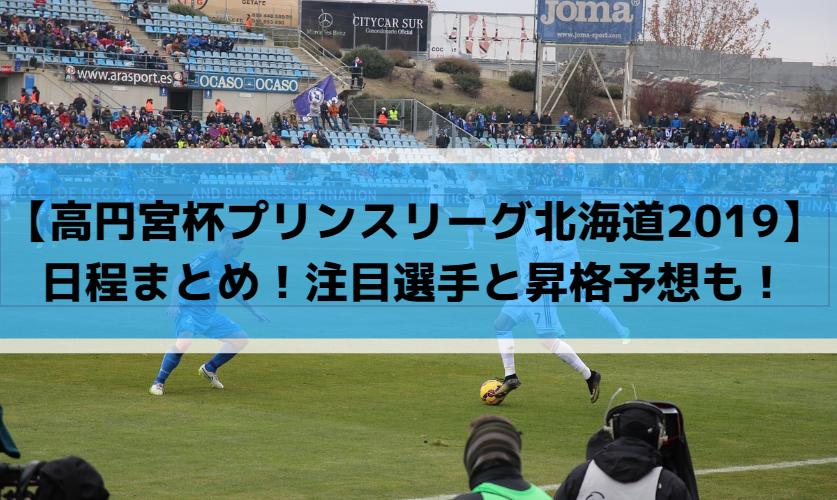 【高円宮杯プリンスリーグ北海道2019】日程まとめ!注目選手と昇格予想も!