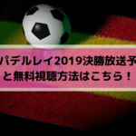 コパデルレイ2019決勝放送予定と無料視聴方法はこちら!