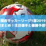 【関西サッカーリーグ1部2019】日程まとめ!注目選手と優勝予想も!