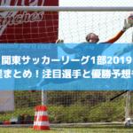 【関東サッカーリーグ1部2019】日程まとめ!注目選手と優勝予想も!