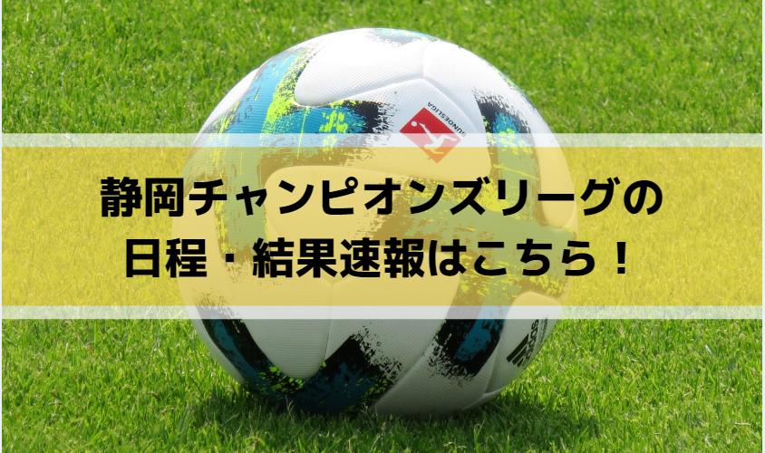 静岡チャンピオンズリーグの日程・結果速報はこちら!