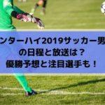 インターハイ(高校総体)2019サッカー男子の日程と放送は?優勝予想と注目選手も!
