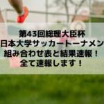 総理大臣杯サッカー2019の結果速報はこちら!(全日本大学サッカートーナメント)