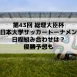 総理大臣杯サッカー2019のテレビ放送・日程と組み合わせは?優勝予想も(全日本大学サッカートーナメント)