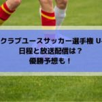 U15クラブユースサッカー選手権2019の日程と放送配信は?優勝予想も!