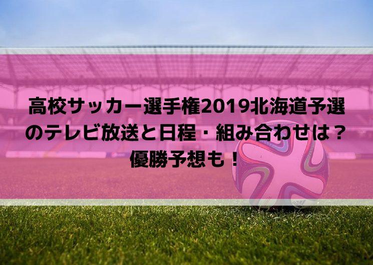 高校サッカー選手権2019北海道予選の日程・組み合わせとテレビ放送は?優勝予想も!