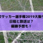 高校サッカー選手権2019大阪予選のテレビ放送と日程・組み合わせは?優勝予想も!