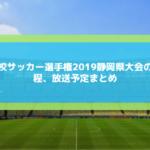 高校サッカー選手権2019静岡予選のテレビ放送と日程・組み合わせは?優勝予想も!