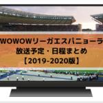 【2019-2020版】WOWOWリーガエスパニョーラ放送予定・日程まとめ