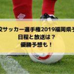 高校サッカー選手権予選2019福岡県大会の日程・組み合わせとテレビ放送は?優勝予想も!