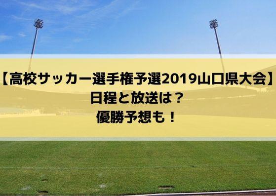 高校サッカー選手権2019山口県予選の日程・組み合わせとテレビ放送は?優勝予想も!