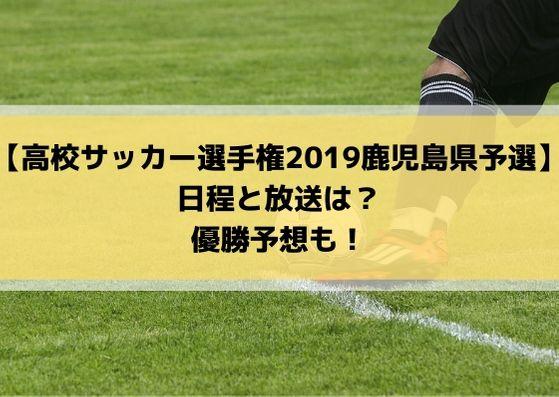 高校サッカー選手権予選2019鹿児島県大会の日程・組み合わせとテレビ放送は?優勝予想も!