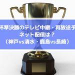 天皇杯準決勝のテレビ中継・再放送予定とネット配信は?(神戸vs清水・鹿島vs長崎)