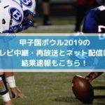 甲子園ボウル2019のテレビ中継・再放送とネット配信は?結果速報もこちら!