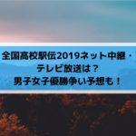 全国高校駅伝2019ネット中継・テレビ放送は?男子女子優勝争い予想も!