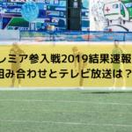 プレミア参入戦2019結果速報!組み合わせとテレビ放送・ネット配信は?
