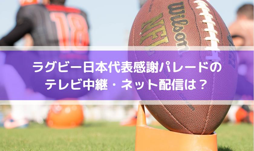 ラグビー日本代表パレード時間は?テレビ放送中継・ネット配信はある?