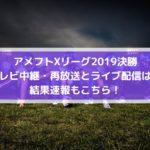 ジャパンエックスボウル2019のテレビ中継・再放送とライブ配信は?結果速報もこちら!