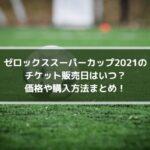 ゼロックススーパーカップ2021のチケット販売日はいつ?価格や購入方法まとめ!