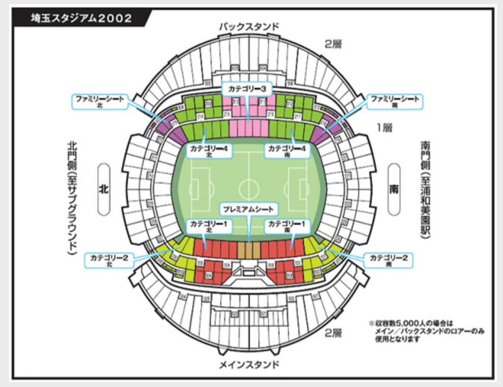 ゼロックススーパーカップ2021席割表