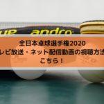 全日本卓球選手権2020放送日程とネット配信動画の視聴方法はこちら!