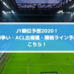 J1順位予想2020!優勝争い・ACL出場権・降格ライン予想はこちら!