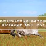 目黒記念2020予想オッズと出走予定馬は?過去10年の結果・配当データも!