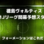 徳島ヴォルティス2021Jリーグ開幕戦スタメン予想!フォーメーションはこれだ!