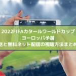 ワールドカップ2022ヨーロッパ予選の放送と無料ネット配信の視聴方法まとめ!