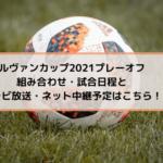 ルヴァンカップ2021プレーオフの組み合わせ・試合日程とテレビ放送・ネット中継予定はこちら!