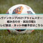 速報!ルヴァンカップ2021プライムステージの組み合わせ・日程と放送ネット中継予定はこちら!