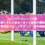 ACL2021セレッソ大阪の日程とテレビ放送・ネット配信中継動画はある?【東地区グループステージ・集中開催】