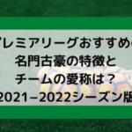 プレミアリーグおすすめの名門古豪の特徴とチーム愛称は?【2021−2022シーズン版】