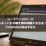 リーグアンのHuluネット生中継を無料視聴する方法!TV5MONDE放送予定も