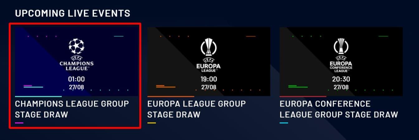 UEFAtvでのチャンピオンズリーグ_ヨーロッパリーグ_カンファレンスリーグの組み合わせ抽選会配信 (1)